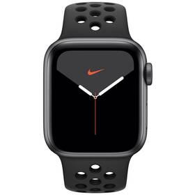 Apple Watch Nike Series 5 GPS 40mm pouzdro z vesmírně šedého hliníku - antracitový/černý sportovní řemínek Nike SK (MX3T2VR/A)