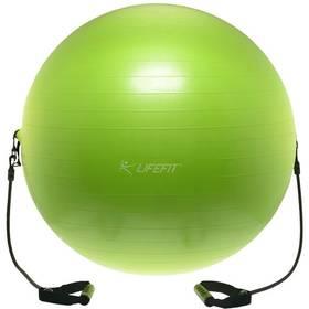 LIFEFIT s expanderem GYMBALL EXPAND 75 cm zelený