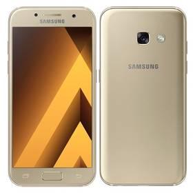 Samsung Galaxy A3 (2017) (SM-A320FZDNETL) zlatý Voucher na skin Skinzone pro Mobil CZPaměťová karta Samsung Micro SDHC 16GB Class 10 - bez adaptéru (zdarma)Software F-Secure SAFE 6 měsíců pro 3 zařízení (zdarma) + Doprava zdarma