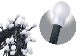 EMOS 80 LED, 8m, řetěz (kulička), studená bílá, časovač, i venkovní použití (1534090015)