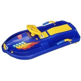 Acra Snow Boat plastové řiditelné modré + Reflexní sada 2 SportTeam (pásek, přívěsek, samolepky) - zelené v hodnotě 58 Kč