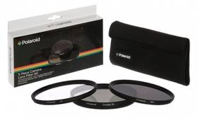 Polaroid 55mm (UV MC, CPL, ND9), set 3ks (PL3FILND55) černý