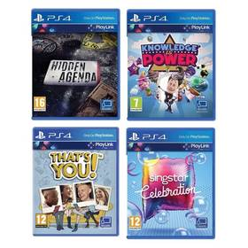 Sony PlayStation 4 Hidden Agenda + Knowledge is Power + SingStar Celebration + Thats You (PS719989066)