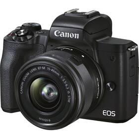Canon EOS M50 Mark II + EF-M 15-45 + SB130 + 16GB (4728C056) černý