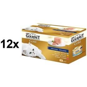 Konzerva Gourmet Gold jemná paštika Multipack 12 x (4 x 85g)