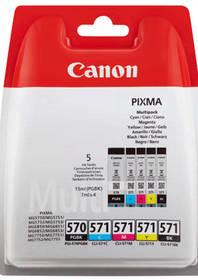 Canon PGI-570/CLI-571 PGBK/C/M/Y/BK MULTI BL w/o SEC (0372C004) černá/červená/modrá/žlutá + D