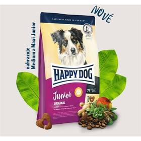 HAPPY DOG Junior Original 10 kg Konzerva HAPPY DOG Rind Pur - 100% hovězí maso 200 g (zdarma) + Doprava zdarma