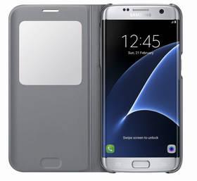 Samsung S-View pro Galaxy S7 Edge (EF-CG935P) (EF-CG935PSEGWW) stříbrné