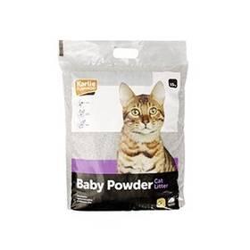 Podstielky Karlie pro kočky s baby powder vůní 15 kg