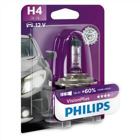 Philips VisionPlus H4, 1ks (12342VPB1)