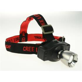 Calter Profi Rechargeable, 3W-CREE, 300lum černá/červená