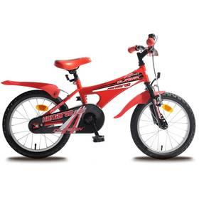 """Olpran Kangaroo 16"""" černý/červený Sada cyklodoplňků (zvonek+blikačka+světlo) pro kolo dětské (zdarma)"""