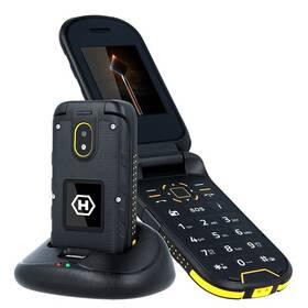 myPhone Hammer Bow Plus Dual SIM (TELMYHBOWPOR) černý/oranžový (vrácené zboží 8800188781)