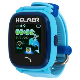 Fotografie Chytré hodinky Helmer LK 704 dětské s GPS lokátorem modré (Helmer LK 704 B)