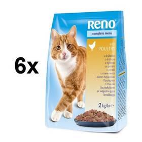 Reno pro kočku s drůbežím 12 kg (6 x 2 kg)
