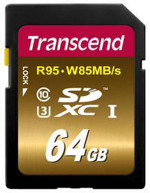 Transcend SDXC Ultimate 64GB UHS-I U3 (95R/85W) (TS64GSDU3X)
