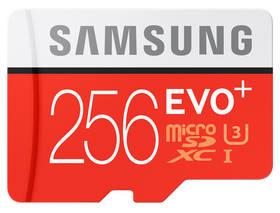 Samsung Micro SDXC EVO+ 256GB UHS-I U3 (95R/90W) + adapter (MB-MC256DA/EU) + Doprava zdarma