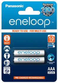 Panasonic Eneloop AAA, 750mAh, 2 ks (BK-4MCCE/2BE) bílá + Doprava zdarma