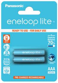 Panasonic Eneloop Lite AAA, 550mAh, 2 ks (BK-4LCCE/2BE)