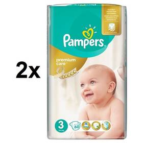 Pampers 2x Premium Care Midi vel. 3, 60 ks