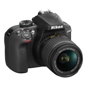 Nikon D3400 + AF-P 18-55 NON VR (VBA490K002) černý