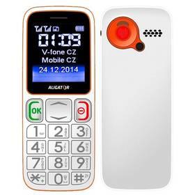 Mobilný telefón Aligator Senior A320 DualSim (A320WO) biely/oranžový