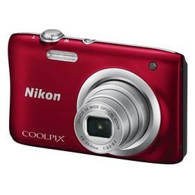 Nikon Coolpix A100 červený + Doprava zdarma