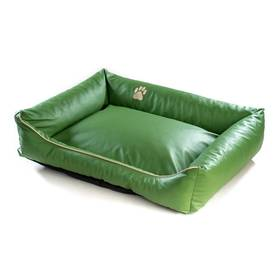 Argi pro psa obdélníkový EKO kůže - 90x70 cm / snímatelný potah zelený + Doprava zdarma