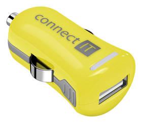 Connect IT InCarz COLORZ, 1x USB, 2,1A (V2) (CI-1126) žltý