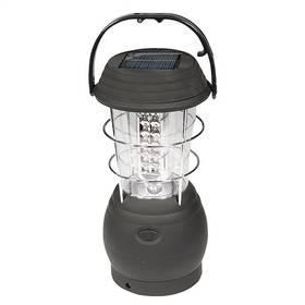 Kempingová lampa Yate se solárním dobíjením 26x15x15 cm - černá