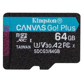 Kingston Canvas Go! Plus MicroSDXC 64GB UHS-I U3 (170R/70W) (SDCG3/64GBSP)
