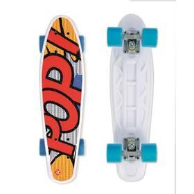 """Street Surfing Pop Board Popsi Yellow 21,6"""" x 6,1"""" bílý/červený/modrý/žlutý + Reflexní sada 2 SportTeam (pásek, přívěsek, samolepky) - zelené v hodnotě 58 Kč + Doprava zdarma"""