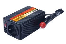 Solight 12V, 200W, kovový, černý, 12V + USB 500mA (221882)