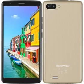 iGET Blackview GA20 Dual SIM (84000434) černý/zlatý SIM s kreditem T-Mobile 200Kč Twist Online Internet (zdarma)