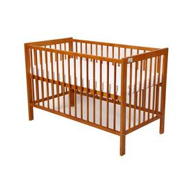 Postieľka detská drevená For Baby Magda pevné boky olše