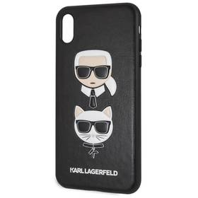 Karl Lagerfeld Karl and Choupette Hard Case pro Apple iPhone Xs Max (KLHCI65IKICKC) černý