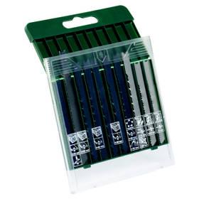 Bosch 10dílná kazeta pilových plátků na dřevo/kov/plast (U-stopka)
