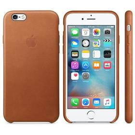 Apple Leather Case pro iPhone 6S - Saddle Brown (MKXT2ZM/A) hnědý