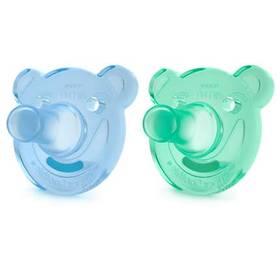 Philips AVENT Soothie +3m, 2 ks modré/zelené