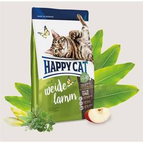 HAPPY CAT ADULT Weide-Lamm / Pastýřské jehněčí 10 kg + Doprava zdarma