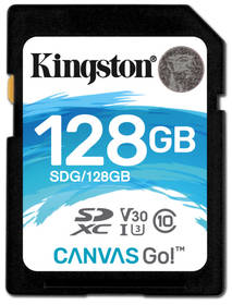 Kingston Canvas Go! SDXC 128GB UHS-I U3 (90R/45W) (SDG/128GB)
