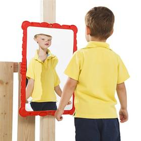 Zrcadlo CUBS k dětskému hřišti - červené + Doprava zdarma