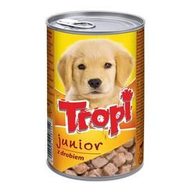 Tropi Junior Dog kousky v konzervě, příchuť drůbeží 415g