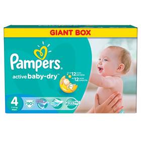 Plienky Pampers Active Baby-dry vel. 4 Maxi, 90ks