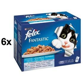 Felix Fantastic výběr z ryb 6 x (12 x 100g)