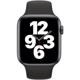Apple Watch SE GPS 44mm pouzdro z vesmírně šedého hliníku - černý sportovní náramek (MYDT2HC/A)