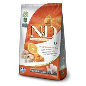 N&D Grain Free Pumpkin DOG Adult M/L Codfish & Orange 12kg + Doprava zdarma