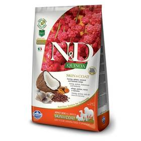 N&D Grain Free Quinoa DOG Skin&Coat Herring & Coconut 2,5 kg + Doprava zdarma