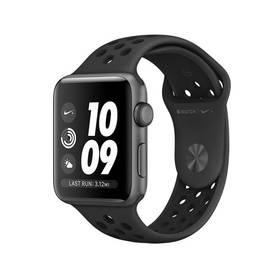 Apple Watch Series 3 Nike+ 42mm pouzdro z vesmírně šedého hliníku - černý Nike řemínek (MQL42CN/A)