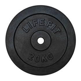 LIFEFIT kovový 20kg pro 30mm tyč černý